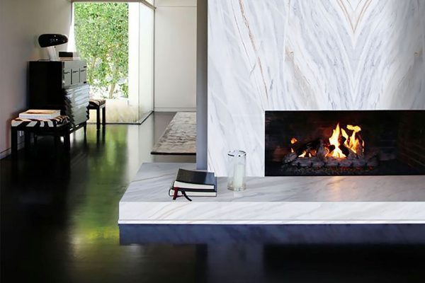Bianca Covel Fireplace marble
