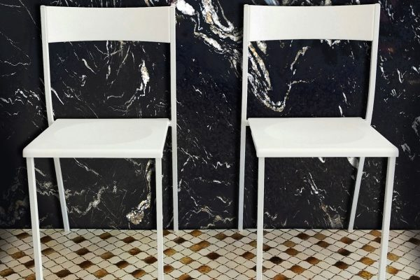 Modern Chairs with Cosmic Black Polished Wall 300dpi